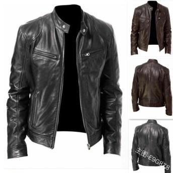 2色 メンズレザージャケット ライダース バイクウエア バイクジャケット 皮ジャン 革ジャン カジュアル 防寒 お兄系 個性 細身 大きいサイズ