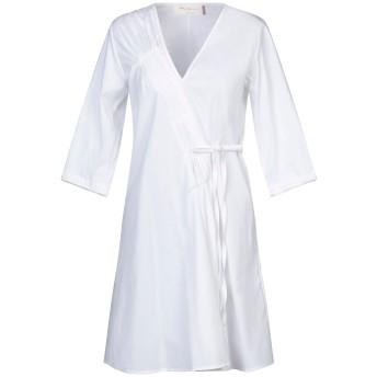 《セール開催中》KATIA GIANNINI レディース ミニワンピース&ドレス ホワイト 40 コットン 61% / ナイロン 36% / ポリウレタン 3%