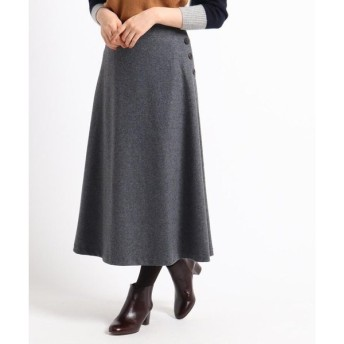 Dessin / デッサン 【XS〜Mサイズあり】ウール混Aライン圧縮ジャージスカート
