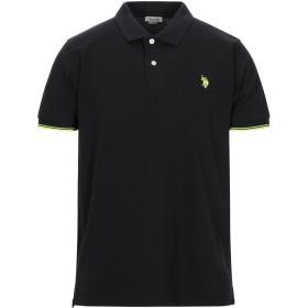 《セール開催中》U.S.POLO ASSN. メンズ ポロシャツ ブラック S コットン 100%