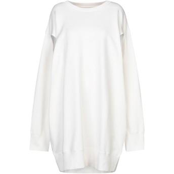 《セール開催中》MM6 MAISON MARGIELA レディース ミニワンピース&ドレス ホワイト XS コットン 100% / ポリウレタン