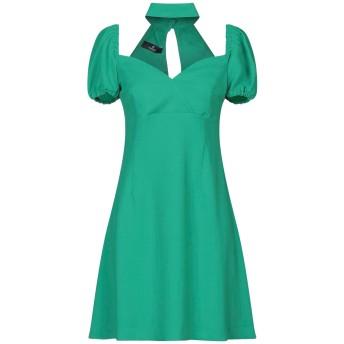 《セール開催中》COMPAGNIA ITALIANA レディース ミニワンピース&ドレス グリーン 42 ポリエステル 100%