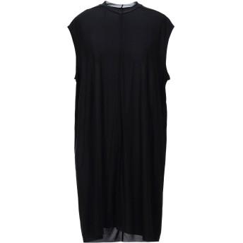 《セール開催中》RICK OWENS LILIES レディース ミニワンピース&ドレス ブラック 40 キュプラ 83% / ポリウレタン 17%