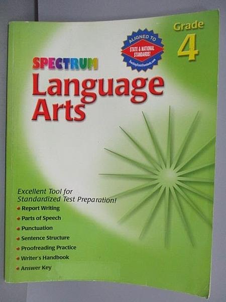 【書寶二手書T5/語言學習_EVT】Language Arts_Grade4