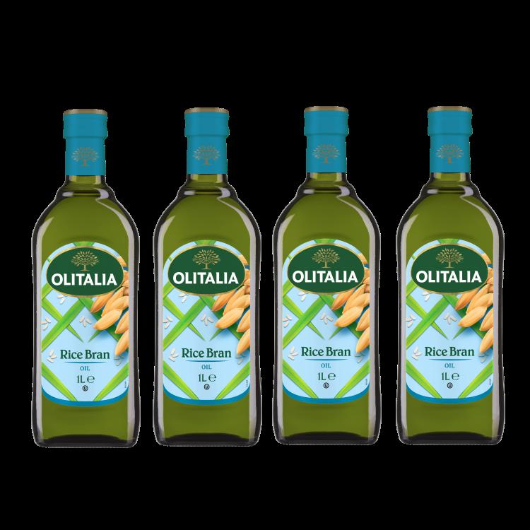 奧利塔玄米油1公升4瓶組(可選擇搭贈奧利塔禮盒)(限配送台灣本島地區)