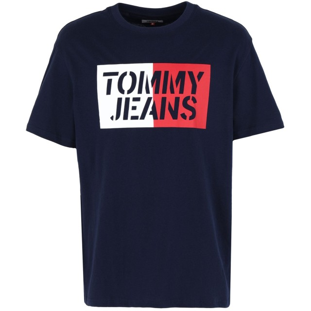 《セール開催中》TOMMY JEANS メンズ T シャツ ダークブルー S コットン BCI 100%