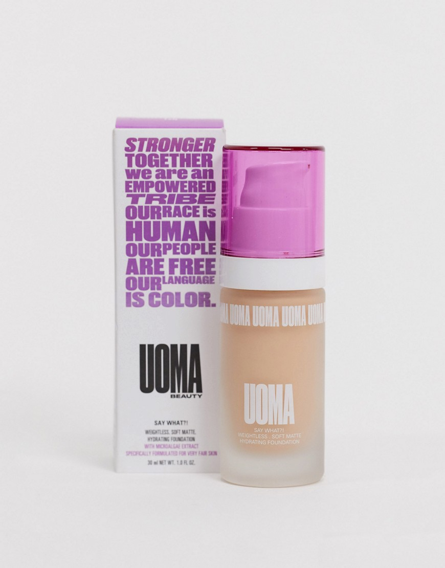 UOMA Beauty Say What? Soft Matte Foundation White Pearl