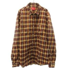 SUPREME(シュプリーム)12AW タータンチェックボタンダウンシャツ ブラウン