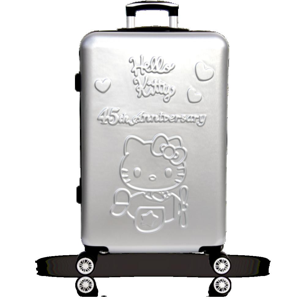 yc eason45週年hello kitty26吋行李箱(銀色)