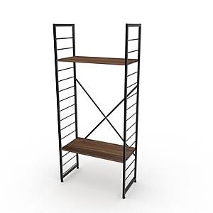 組 - 特力屋萊特 組合式層架 黑框/深木紋色 80x40x188cm