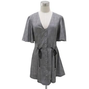 18AW C/MEO COLLECTIVE HOPES UP SS DRESS カメオコレクティブ レディース グレンチェック 半袖 ワンピース ドレス S