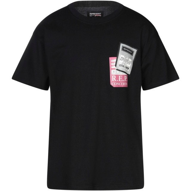 《セール開催中》REPRESENT メンズ T シャツ ブラック S コットン 100%