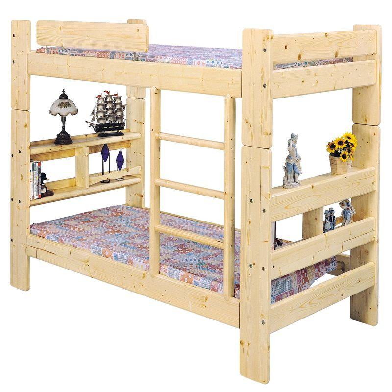 【JA66-4】3.5尺白松木雙層床