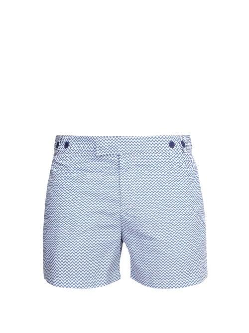Frescobol Carioca - Copacabana Tailored Swim Shorts - Mens - Blue