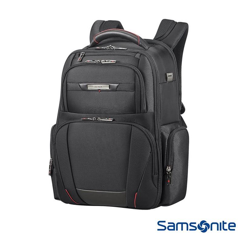 Samsonite 新秀麗【Pro DLX5 CG7】頂級商務後背包 防彈布料 防震隔層 RFID 真皮點綴 可插掛
