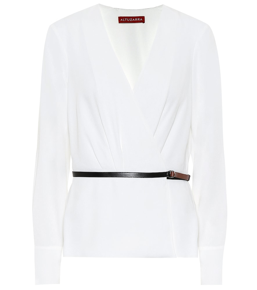 Erika belted blouse