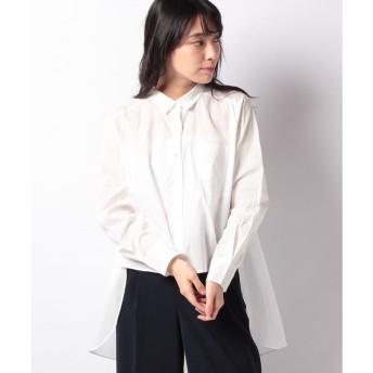 マーコート 【mizuiro ind】front short back long shirt(OFFWHITE)