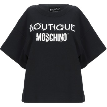 《セール開催中》BOUTIQUE MOSCHINO レディース スウェットシャツ ブラック 38 コットン 100%