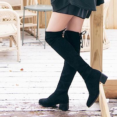IREAL 美腿養成 ‧ 顯瘦後綁結膝上靴
