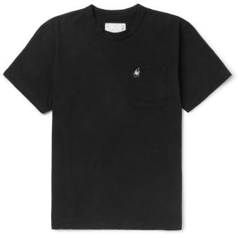 《セール開催中》SACAI メンズ T シャツ ブラック 1 コットン 100%