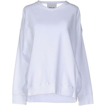 《セール開催中》SHOP ★ ART レディース スウェットシャツ ホワイト L コットン 94% / ポリウレタン 6%