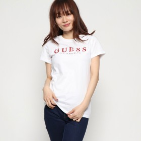 ゲス GUESS LOGO TEE (RED)