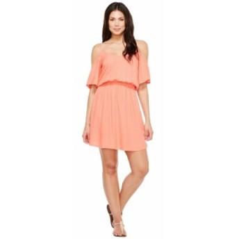 スプレンディッド Splendid レディース ワンピース ワンピース・ドレス Rayon Crosshatch Cold Shoulder Dress Tropical Peach