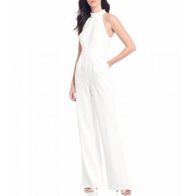 カルバンクライン Calvin Klein レディース オールインワン ジャンプスーツ ノースリーブ ワンピース・ドレス Crepe Halter Neck Sleevel
