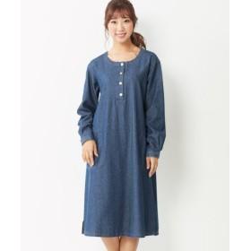 綿100%デニムゆるシルエットワンピース (大きいサイズレディース)ワンピース, plus size dress, 衣裙, 連衣裙