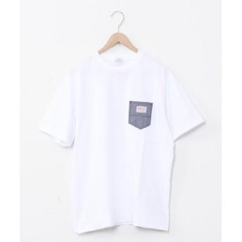コーエン SMITH'S別注ポケットTシャツ(20SS)# ユニセックス NAVY SMALL 【coen】