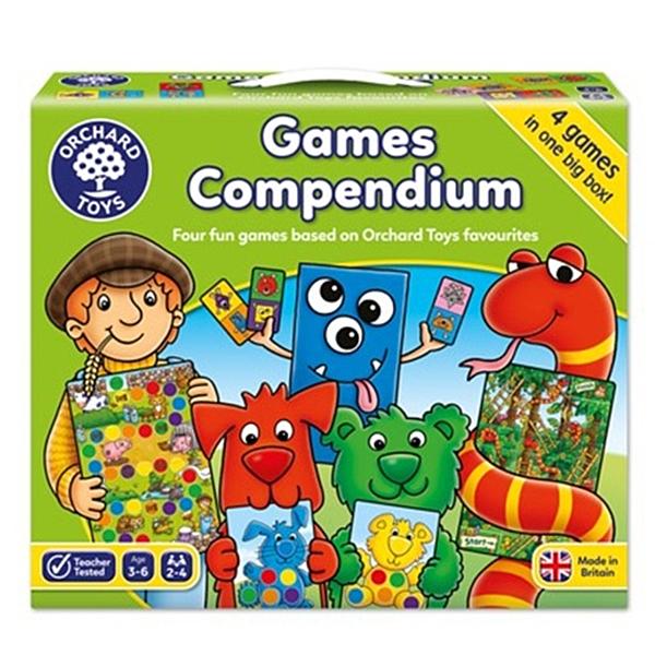 【英國 Orchard Toys】兒童桌遊-色彩遊戲 幼幼入門四合一 OT-510 Games Compendium