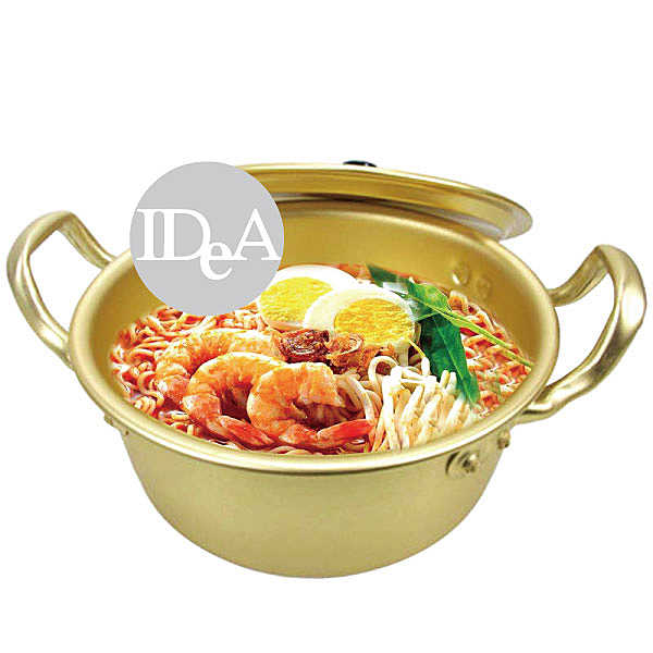 IDEA韓國泡麵鍋 黃鋁鍋   鍋具 瓦斯爐  廚房用品 14cm  韓式料理 拉麵 部隊鍋