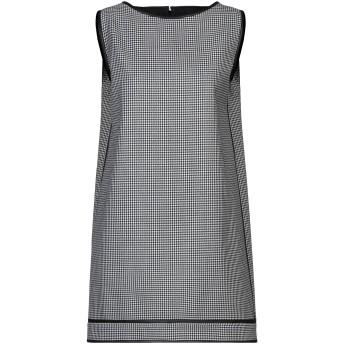 《セール開催中》DSQUARED2 レディース ミニワンピース&ドレス ブラック 38 ウール 100% / 羊類革