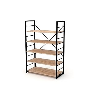 組 - 特力屋萊特 組合式層架 黑框/淺木紋色 80x40x128cm