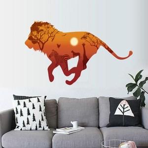 【Loviisa 北歐剪影獅子】無痕壁貼 壁紙