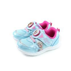 冰雪奇緣 Elsa Anna 運動鞋 電燈鞋 水藍色 中童 童鞋 FOKX94486 no694