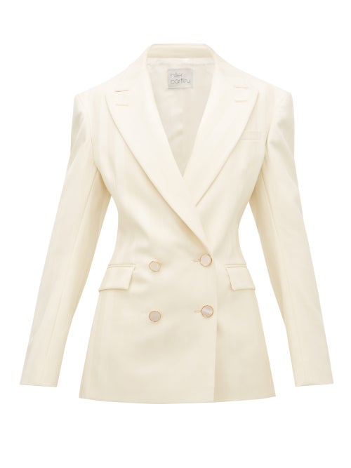 Hillier Bartley - Double-breasted Striped Wool Jacket - Womens - Cream