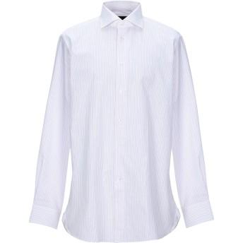 《セール開催中》ERMENEGILDO ZEGNA メンズ シャツ ホワイト 43 コットン 66% / リネン 34%
