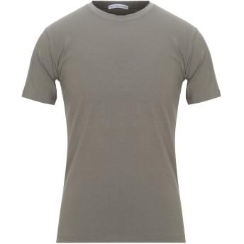 《セール開催中》GREY DANIELE ALESSANDRINI メンズ T シャツ ミリタリーグリーン S コットン 90% / ポリウレタン 10%