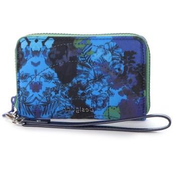 デシグアル Desigual 小財布 CAMOFLOWER MINI ZIP (ブルー)