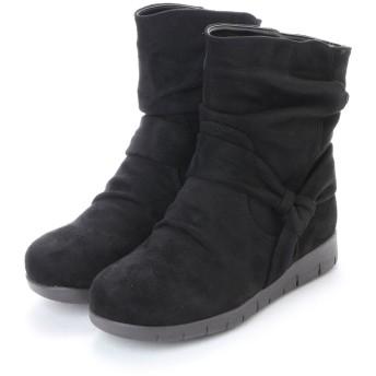 ヌーベルヴォーグ リラックス NOUBEL VOUG Relax 肌触り抜群ボアのショートブーツ (ブラック)