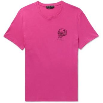 《セール開催中》ALEXANDER MCQUEEN メンズ T シャツ フューシャ XS コットン 100% / ポリエステル / レーヨン