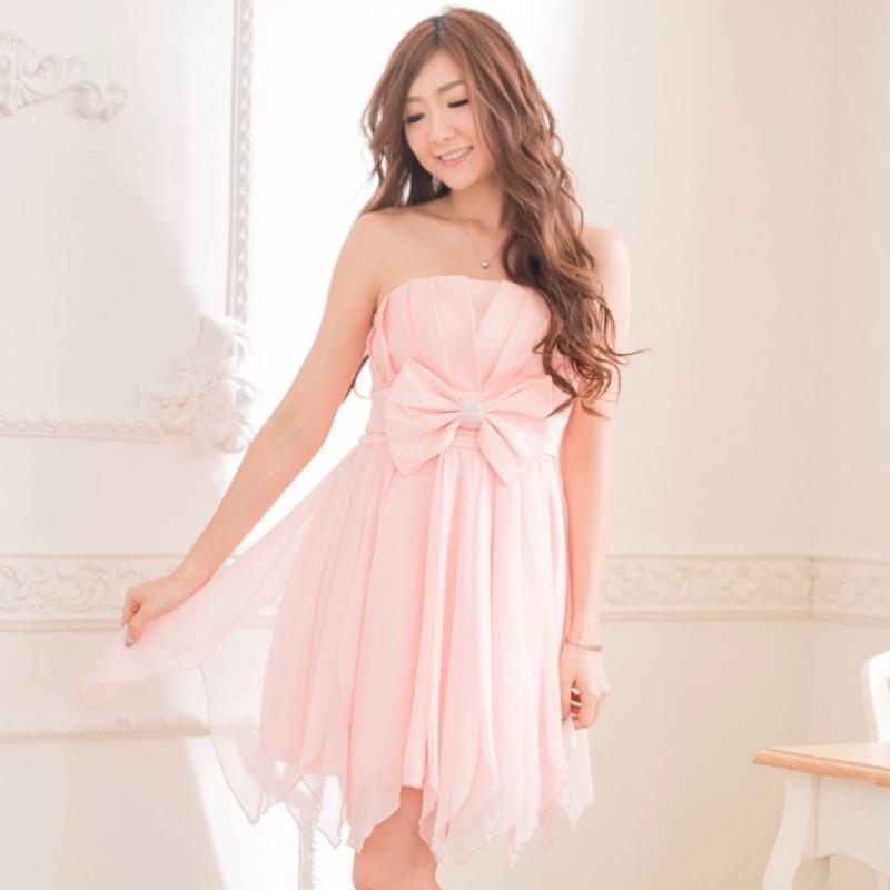 PMQueen白羽夜后洋裝禮服[30034]胸口百折緞面下襬飄逸網紗洋裝/禮服/伴娘