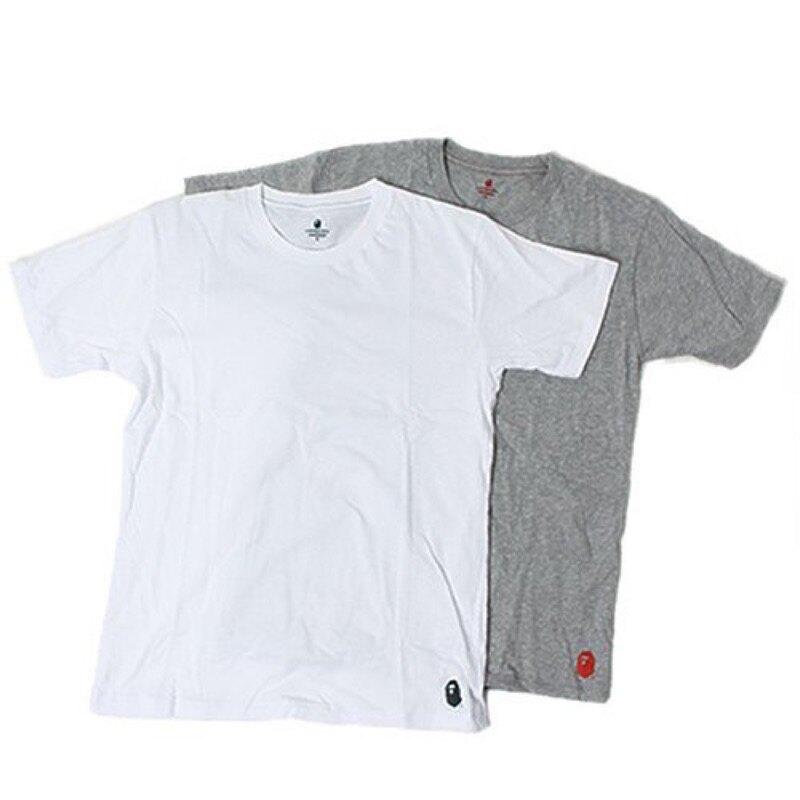 A BATHING APE 白色T-shirt 素色上衣 M L號
