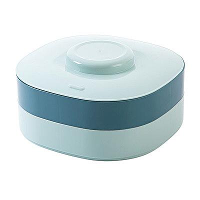 干果盤 雙層家用分格零食盤客廳茶幾糖果盤塑料瓜子盤干果盒 快速出貨