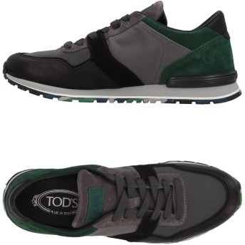 《セール開催中》TOD'S メンズ スニーカー&テニスシューズ(ローカット) グレー 5 紡績繊維 / 革