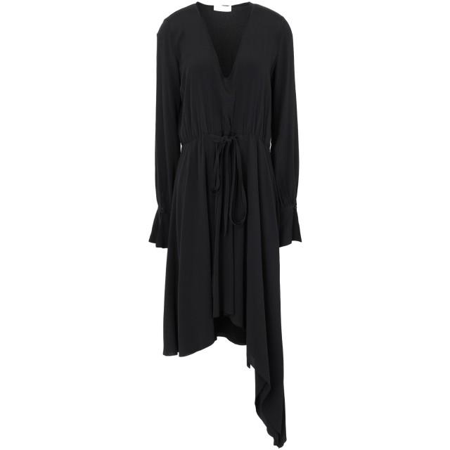 《セール開催中》MAURO GRIFONI レディース ミニワンピース&ドレス ブラック 38 アセテート 69% / シルク 31%
