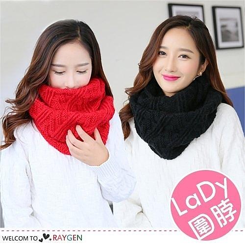 秋冬韓版保暖斜紋針織圍脖 毛線 圍巾