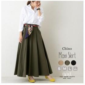 セレクトリベリー 裾ボリュームでウエストすっきりAラインロングスカート レディース カーキ M 【SELECT LEVERY】