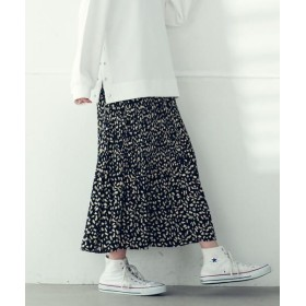 LIPSTAR/リップスター ドットレオパードプリントプリーツスカート ブラック系その他 M